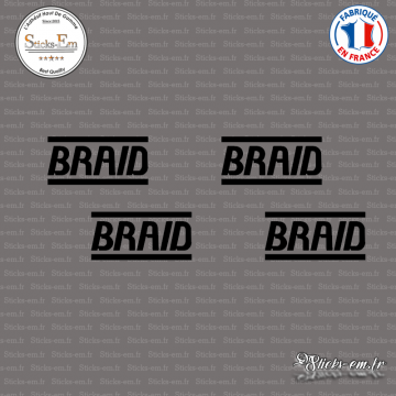 4 Stickers Braid Logo