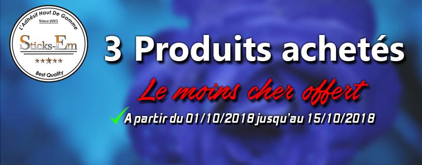 Conditions de la promotion 3 produits achetés le moins cher offert